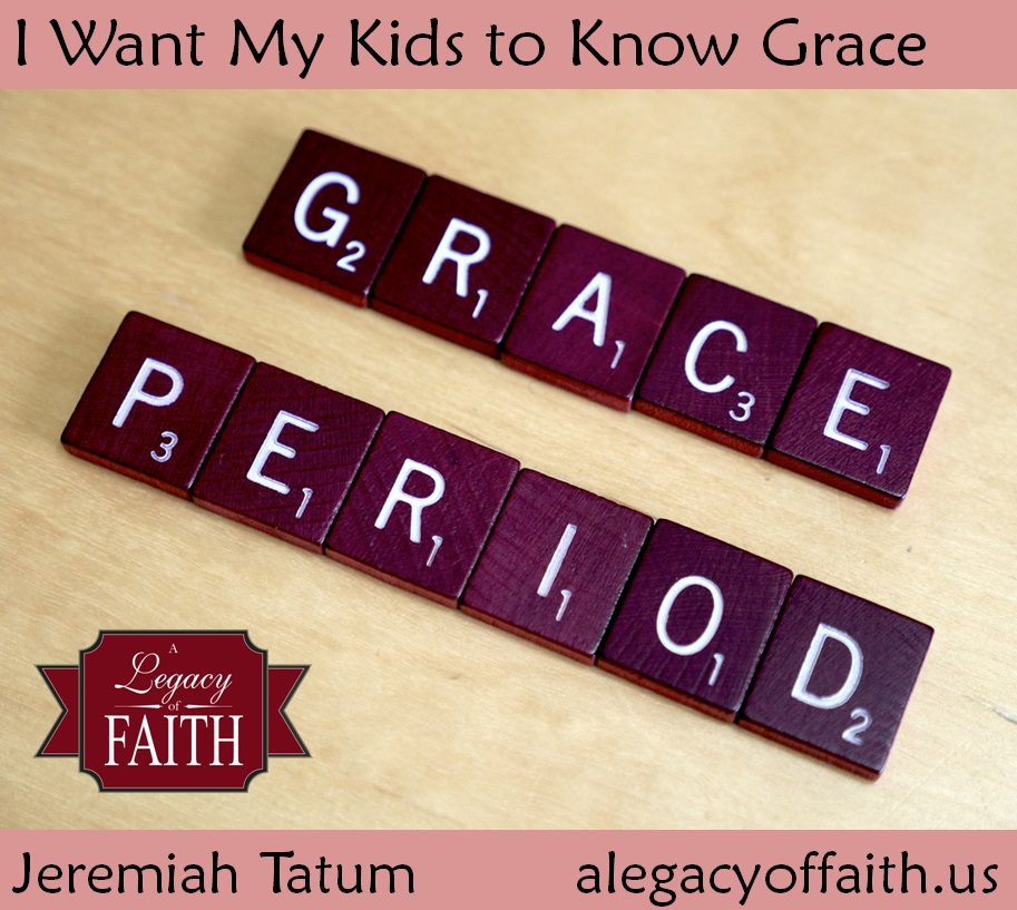 I want my kids to know grace