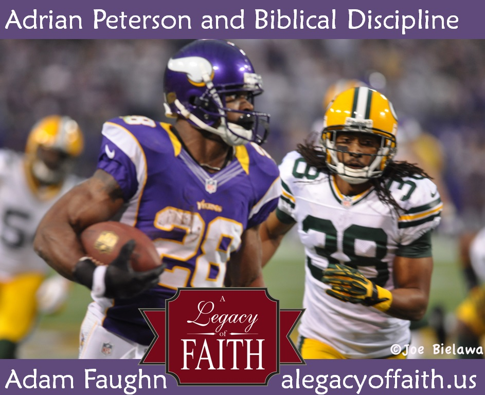 adrian peterson and biblical discipline
